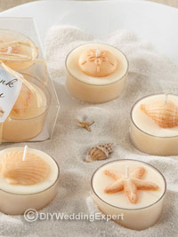 candles for a beach wedding theme