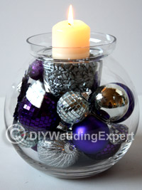 an easy diy wedding centerpiece ideal for a Christmas wedding