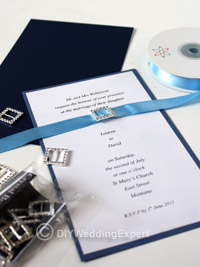 materials to create a diy wedding invitation