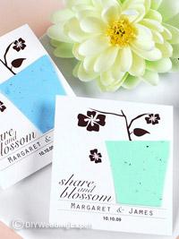seed wedding favors for a garden themed wedding