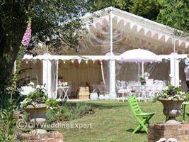 wedding tent in the garden