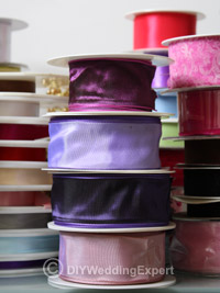 ribbons for creating diy wedding decorations