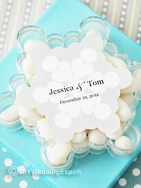 snowflake winter wedding favors