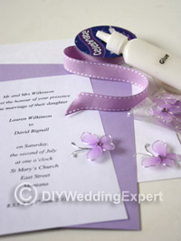 materials for a diy butterfly wedding invitation