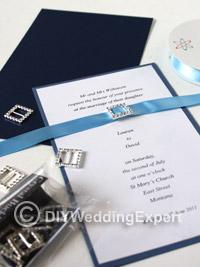 materials for a diy wedding invitation tutorial