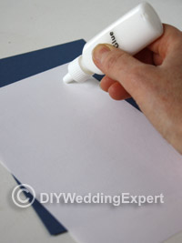 how to glue a wedding invitation