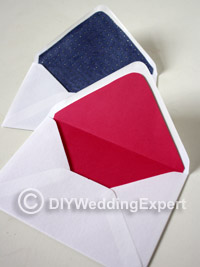 line your wedding invitation envelopes