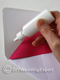 glue your paper liner inside your envelope