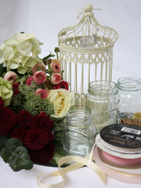 materials needed to create a diy birdcage centerpiece for a wedding