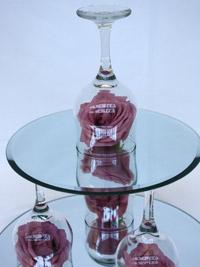 top teir of a candle centerpiece