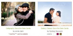 save the date card image from minted