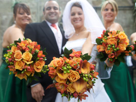 fall wedding flowers to fit with a seasonal wedding theme