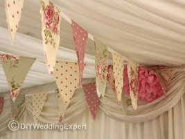 vintage themed wedding bunting