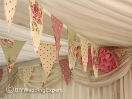 vintage themed wedding bunting