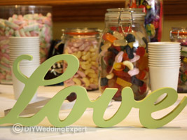 a brides diy wedding candy bar