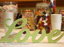 a brides diy wedding candy bar