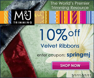 a banner for 10 percent off all velvet ribbons