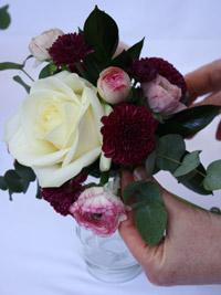 adding foliage to wedding flowers