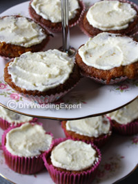 cream cheese frosting on wedding cupcakes