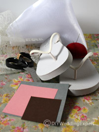 materials for making wedding flip flops