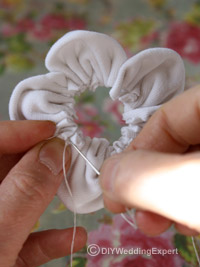 white cotton material flower